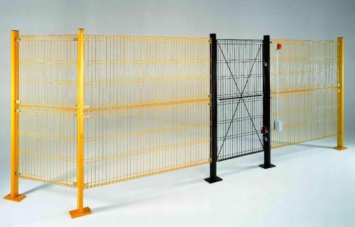 Trennwand für Maschinenschutz / Maschendraht - Off-limits System ...