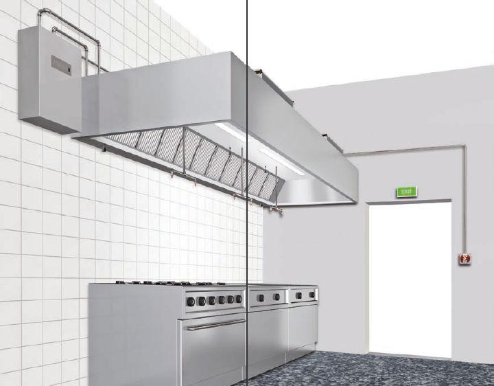 Profi Küche Feuerlöschsystem / Agentenfrei   REVEN® PROTECT Series