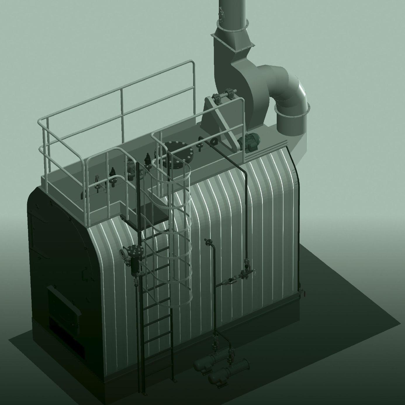 Kessel / gesättigter Dampf / Holz / kompakt - VULCANO series ...