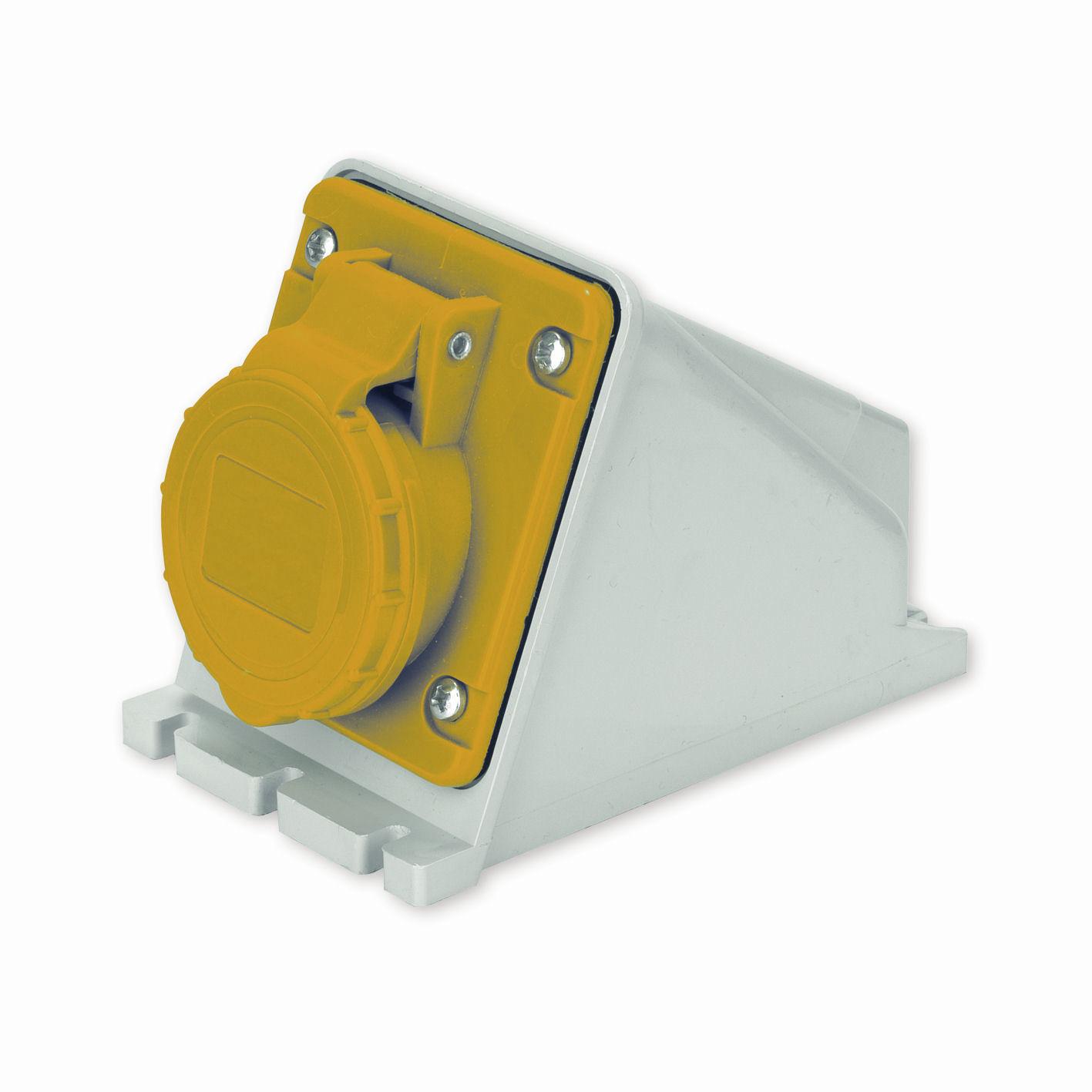 CEE-Steckdose / wandmontiert / Einbau / IP44 - 110 V, 16 A, IP 44 ...