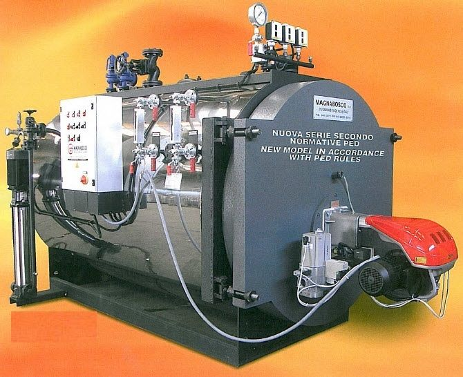 Dampfkessel / Gas / Flammrohr / horizontal - GOPI series - Magnabosco