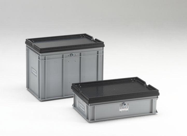 Sehr Kunststoff-Boxpalette / Lager / UN-homologiert / mit Deckel - 36  PE76