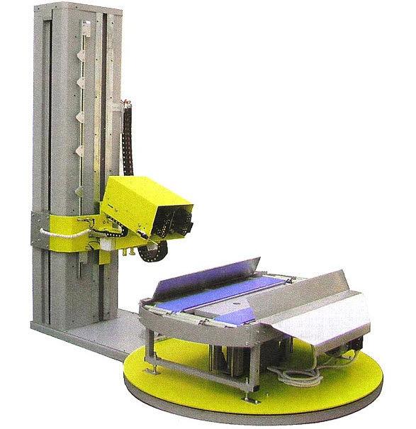 Halbautomatische Verpackungsmaschine Schrumpffolien Paletten