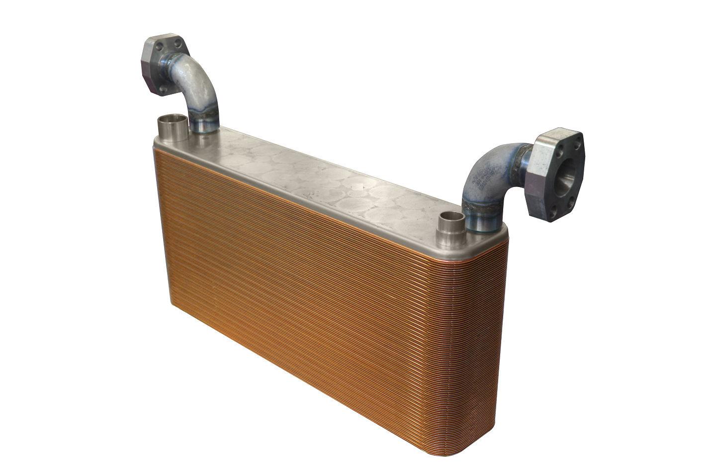 Wärmetauscher mit gelöteten Platten / Wasser/Öl / für hydraulische ...