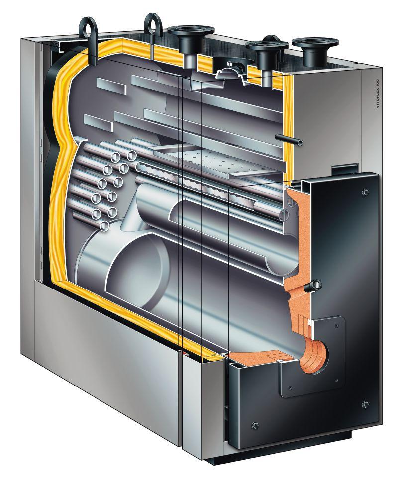 Dampfkessel / Gas / Heizöl / Flammrohr - Vitoplex 100-LS - Viessmann ...