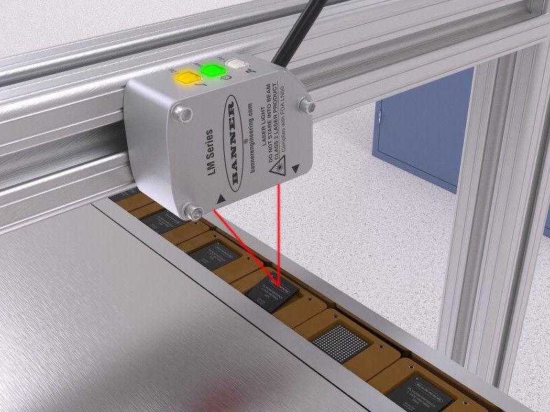 Laser triangulation abstandssensor mit digitalausgang mit