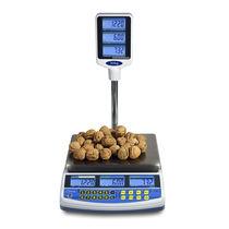 Benchtop-Waage / mit LCD-Display / Edelstahl / für Nahrungsmittel