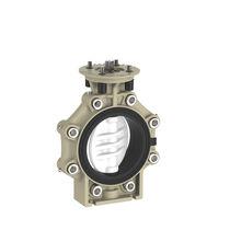 Absperrklappe / elektrisch betätigt / pneumatisch gesteuert / Flansch
