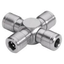 Kreuzanschluss / pneumatisch / Edelstahl / O-Ring