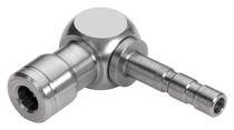 Push-in-Anschluss / geriffelt / 90°-Winkel / pneumatisch