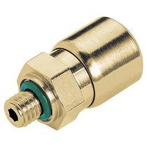 Push-in-Anschluss / gerade / pneumatisch / Messing