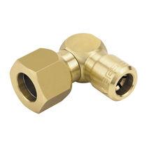 Hydraulischer Adapter / für Rohre / innen rilliert / Messing