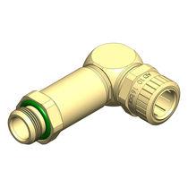 Schraubanschluss / Winkel / hydraulisch / Messing