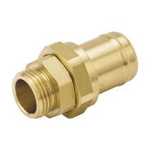 Schottanschluss / Schraub / gerade / hydraulisch