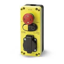 Pilzdrucktaster / einpolig / Thermoplast / elektromechanisch