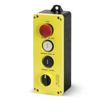Schaltergehäuse / 4 Tasten / IP65 / mit Drehentriegelung