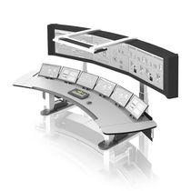 Bedienterminal mit Tastatur / mit Fußgestell / Steuerung / Visualisierung