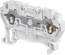 Federdruck-Reihenklemme / auf DIN-Schiene / Sicherung