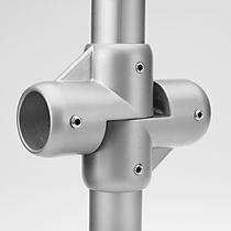 Kreuzrohrverbinder / Stahl
