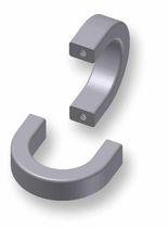 Griff / U-Profil / Aluminium / Geräte