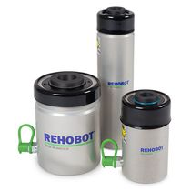 Hydraulischer Zylinder / einfach / Hohlkolben / Aluminium