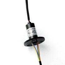 Schleifring zur Leistungs- und Signalübertragung / Kapsel / für Drehtisch / Miniatur