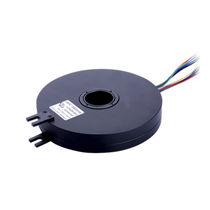 Schleifring zur Leistungs- und Signalübertragung / Durchgangsbohrung / flach / aus Kunststoff