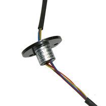 Schleifring zur Leistungs- und Signalübertragung / elektrisch / Kapsel / Miniatur