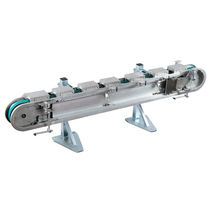Bandförderer / Paletten / Riemenantrieb / kompakt