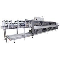 Automatische Schrumpffolienverpackungsmaschine / für Glasflaschen / für Schalen / Karton