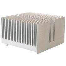 Aluminium-Kühlkörper / extrudiert / Leistung / mit Lamellen