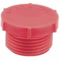 Runder Stopfen / Gewinde / Polyethylen mit niedriger Dichte LDPE / gerändelt