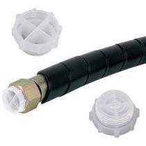 Runder Stopfen / Gewinde / Polyethylen mit niedriger Dichte LDPE / schwingungsdämpfend