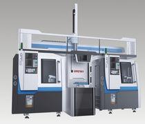 CNC-Drehmaschine / 3-Achsen / pro Platte / Portallader