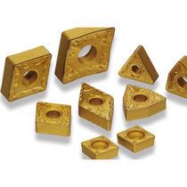 Dreh-Schneidplatte / für Stahl / beschichtet