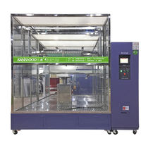 Spritzwasser-Prüfkammer / Fenster / für Materialtest-Maschine