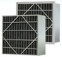 Luftfilter / Platten / mit Aktivkohle / Falt