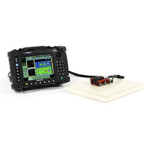 Inspektionssystem für ZfP / Wirbelstrommesssonde für mehrere Elemente