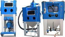 Injektor-Sandstrahlkabine / manuell / Trommel / Drehlattform