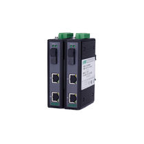 Transceiver für Lichtleiter / Gigabit-Ethernet / auf DIN-Schiene / für Telekommunikationsnetz