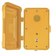Vandalismussicheres telefon / wetterbeständig / Schutztüren / zur Anwendung im Eisenbahnbereich