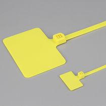 Kabelbinder mit Etikettenhalter / Nylon / flammenbeständig / selbstblockierend