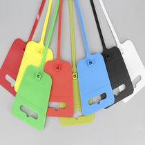 Nylon-Kabelbinder / mit Etikettenhalter / selbstblockierend / mit großem Beschriftungsfeld