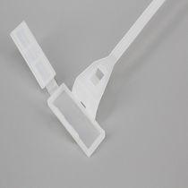 Nylon-Kabelbinder / mit Innenverzahnung / mit Etikettenhalter / mit Schnappverriegelungen-Montage