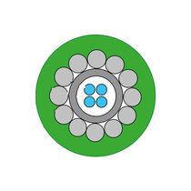 Glasfaserkabel für Sensor / Daten / chemikalienbeständig / für rauhe Umgebung