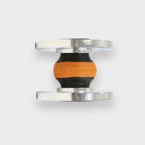 Gummikompensator / rund / Flansch / für Gas