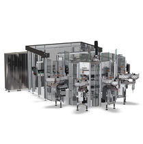 Automatische Etikettiermaschine / für selbstklebende Etiketten