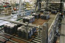 Förderer mit Modulband / für die Lebensmittelindustrie / für Lebensmittel / für Dosen