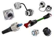 Stromversorgungs-Steckverbinder / LWL / RJ45 / IP67