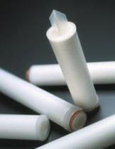 Filterpatrone für Flüssigkeiten / Sterilisation / Glasfaser / Falt
